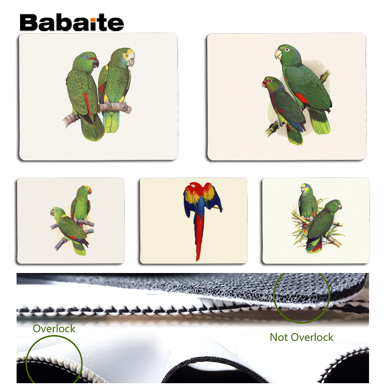Babaite The parrot Large Mouse pad PC Computer mat Size for 25x29cm Gaming Mousepads