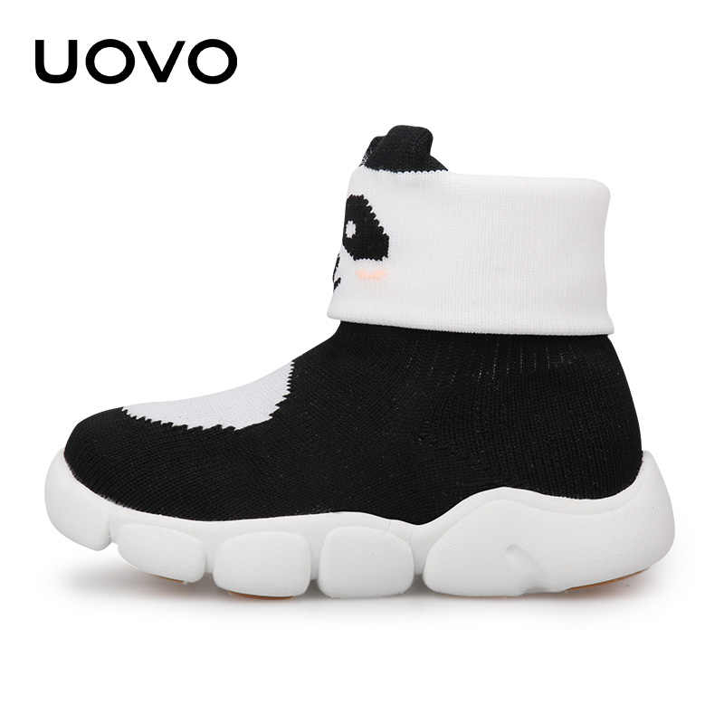 UOVO 秋冬幼児の靴ファッションリトル靴子供漫画のブーツ少年少女豪華なライニングブーツ #23 -31
