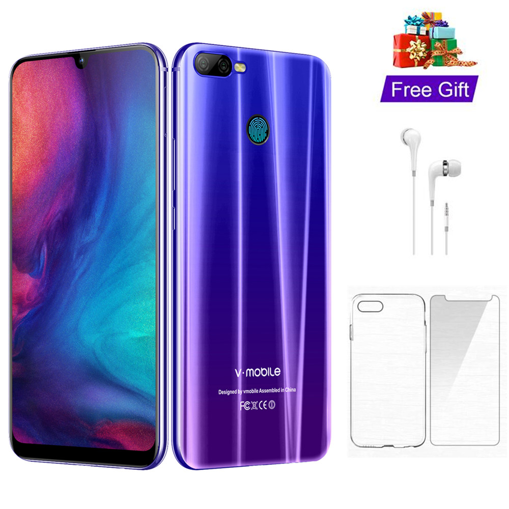 4G LTE TEENO Vmobile M9 мобильный телефон Android 8,1 4 Гб + 64 Гб 6,26 полный экран 4800 мАч 4G мобильный телефон разблокированный сотовый телефон