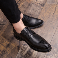 ad599e7b2 Men Genuine Leather Dress Shoes Outdoor Pointed Toe Business Formal Men  Office Lace Up Oxford Shoes