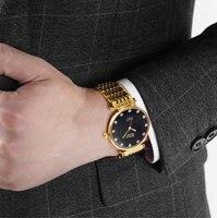 Мужские часы повседневные автоматические механические часы из стали ремень водонепроницаемые часы мужские