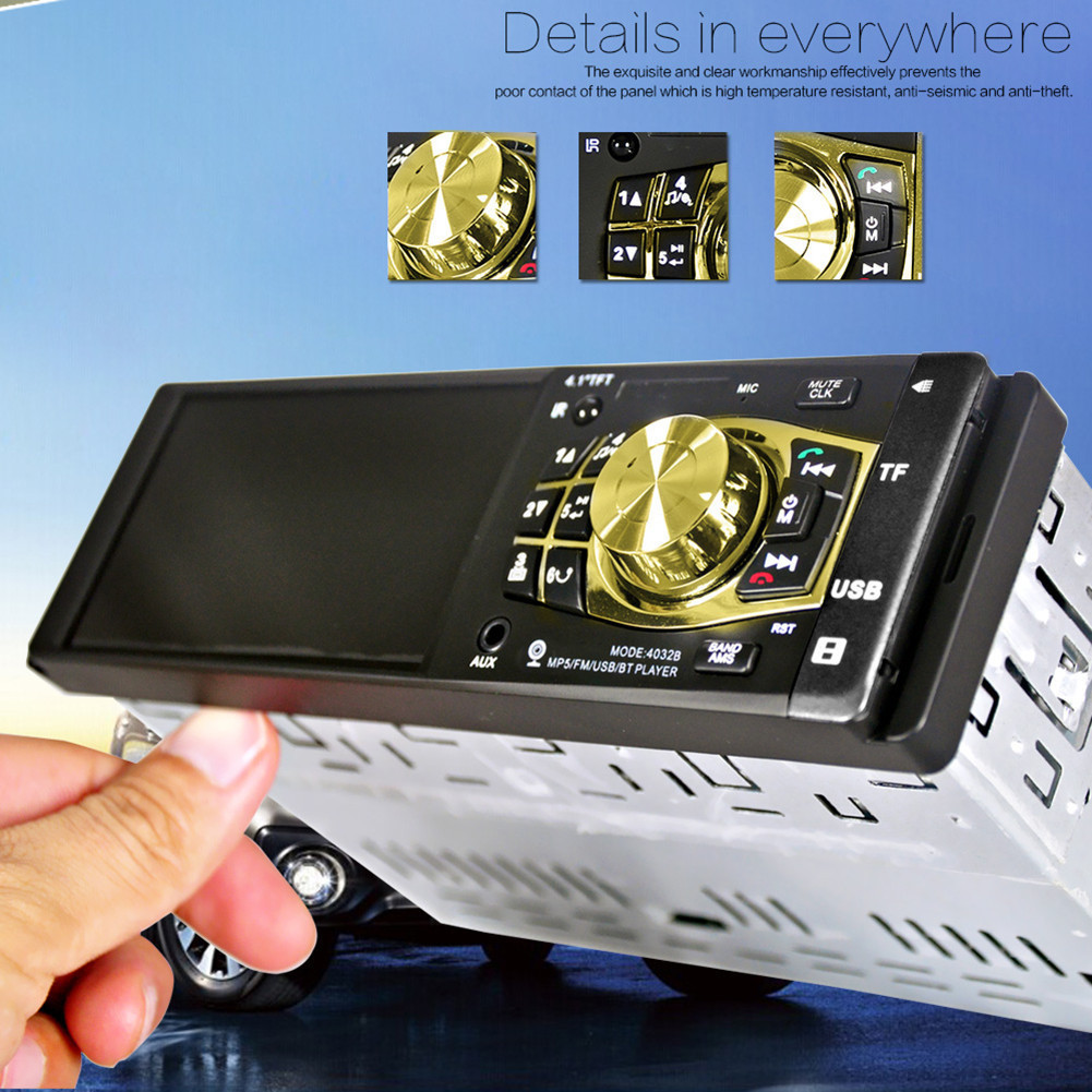 HOT! Car FM Bluetooth Radio Player Auto 4.1 Screen HD USB Video MP3 Mp4 Mp5 Player For Stereo Music With Rear view Camera