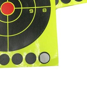 Image 4 - 25 blatt (3 zoll 9 stücke/Blatt) gewehr Schießen von selbstklebende Splatter & Reaktiven Schießen ziele für Gun Pistole