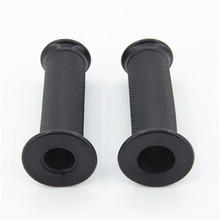 1 pair Black Rubber Grips Non-slip Scooter Handlebar Grip motorbike parts Modified Scooter Handle Grips Motorcycle Handle Bar qc h 298 replacement motorcycle aluminum alloy mechanical cutting handle grips black pair