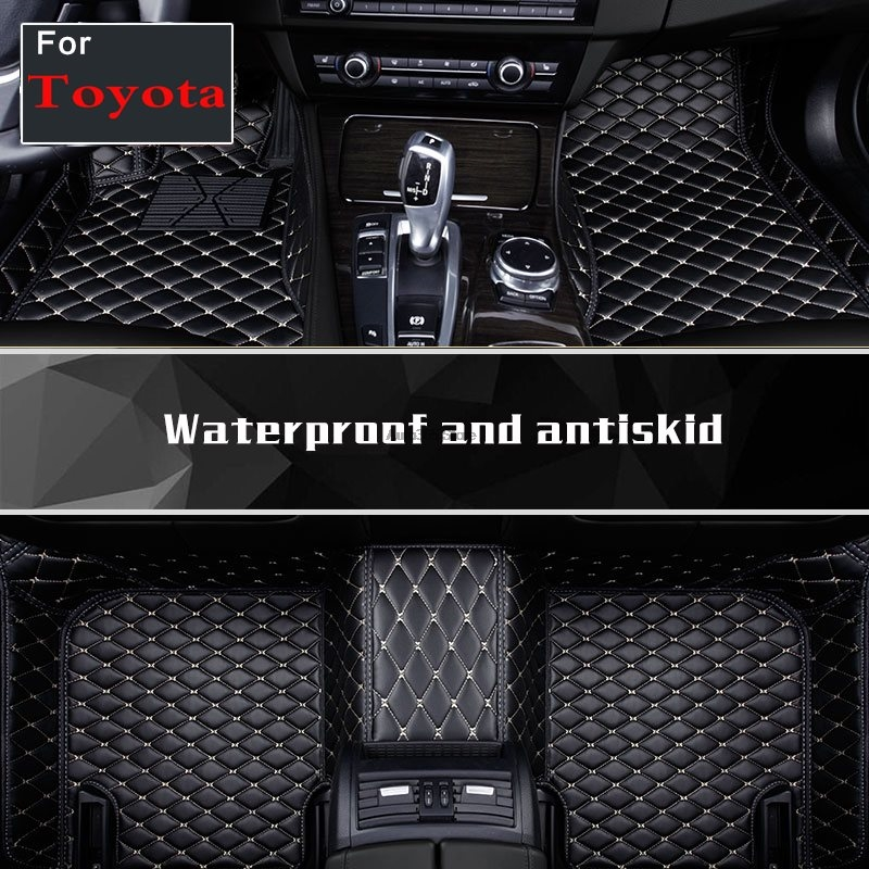 Waterproof Carpets For Toyota Landcruiser Zelas Sequoia Crown 86 Previa Sienna Wishvenza Auto Sticker
