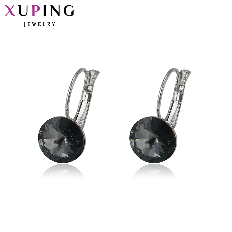 Xuping Fashion Crystals from Swarovski Trendy Hopp Earrings Hot SaleJewelry for Women Gift S29.9-28457