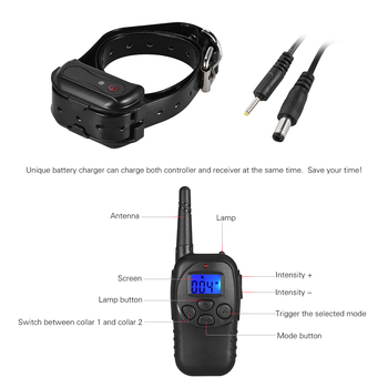electrical-pet-dog-training-collar-rechargeable-waterproof-328yd-remote-control-anti-bark-collar-for-small-large-dog-training