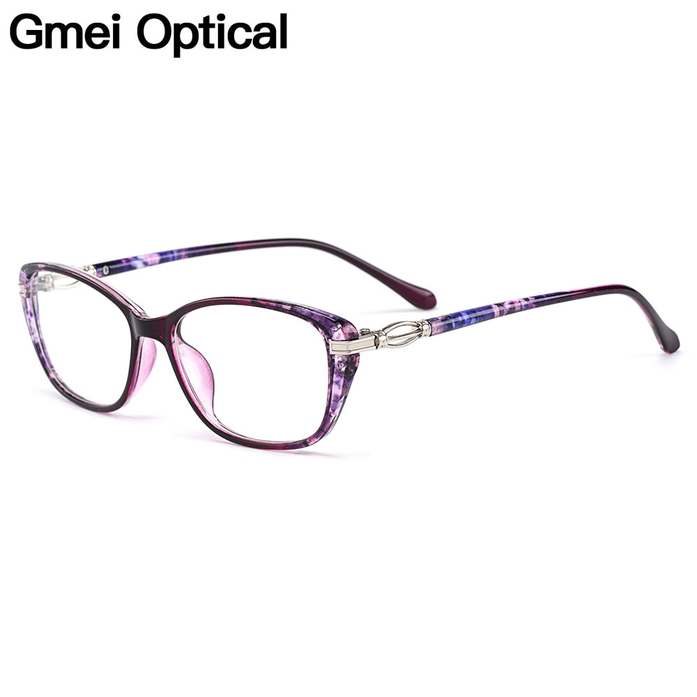 Gmei Optical New Fashion Urltra-Light TR90 Women Optical Glasses Frames Square Full Rim Female Plastic Myopia Eyewear M1688