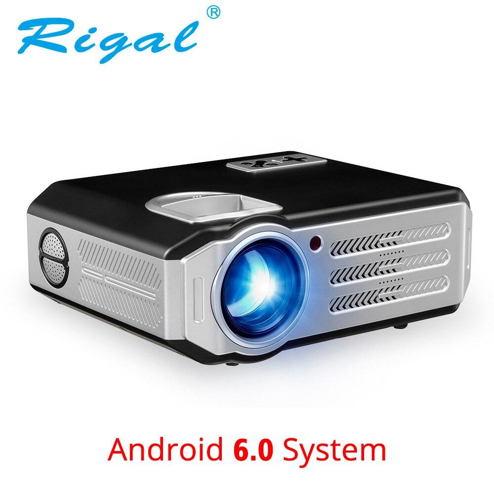 Rigal RD817 Android 6,0 WiFi проектор 3500 люмен Full HD 1080p дома Театр ЖК-дисплей видеопроектор HDMI USB VGA AV видео светодио дный ЖК-проектор