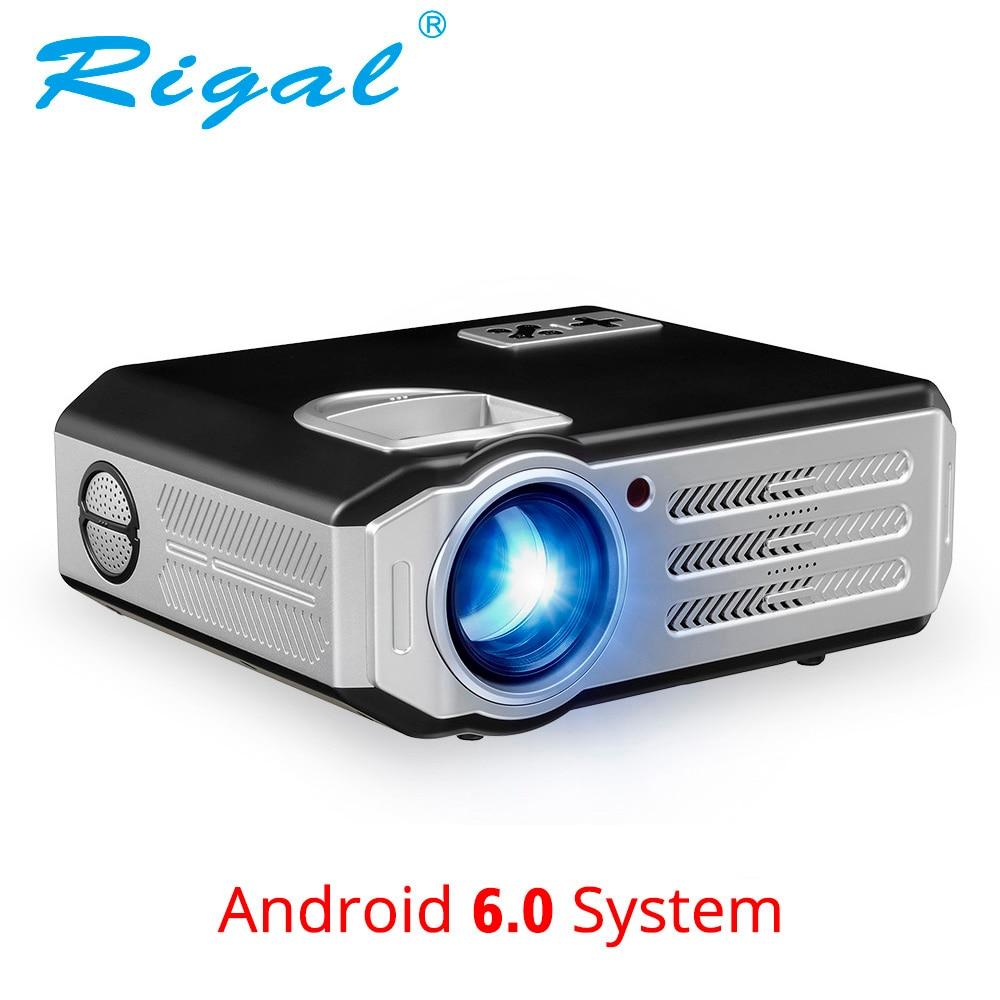 Rigal RD817 Android 6.0 WiFi Projecteur 3500 Lumens Full HD 1080 p Home Cinéma LCD Beamer HDMI USB VGA AV vidéo LED LCD Projecteur
