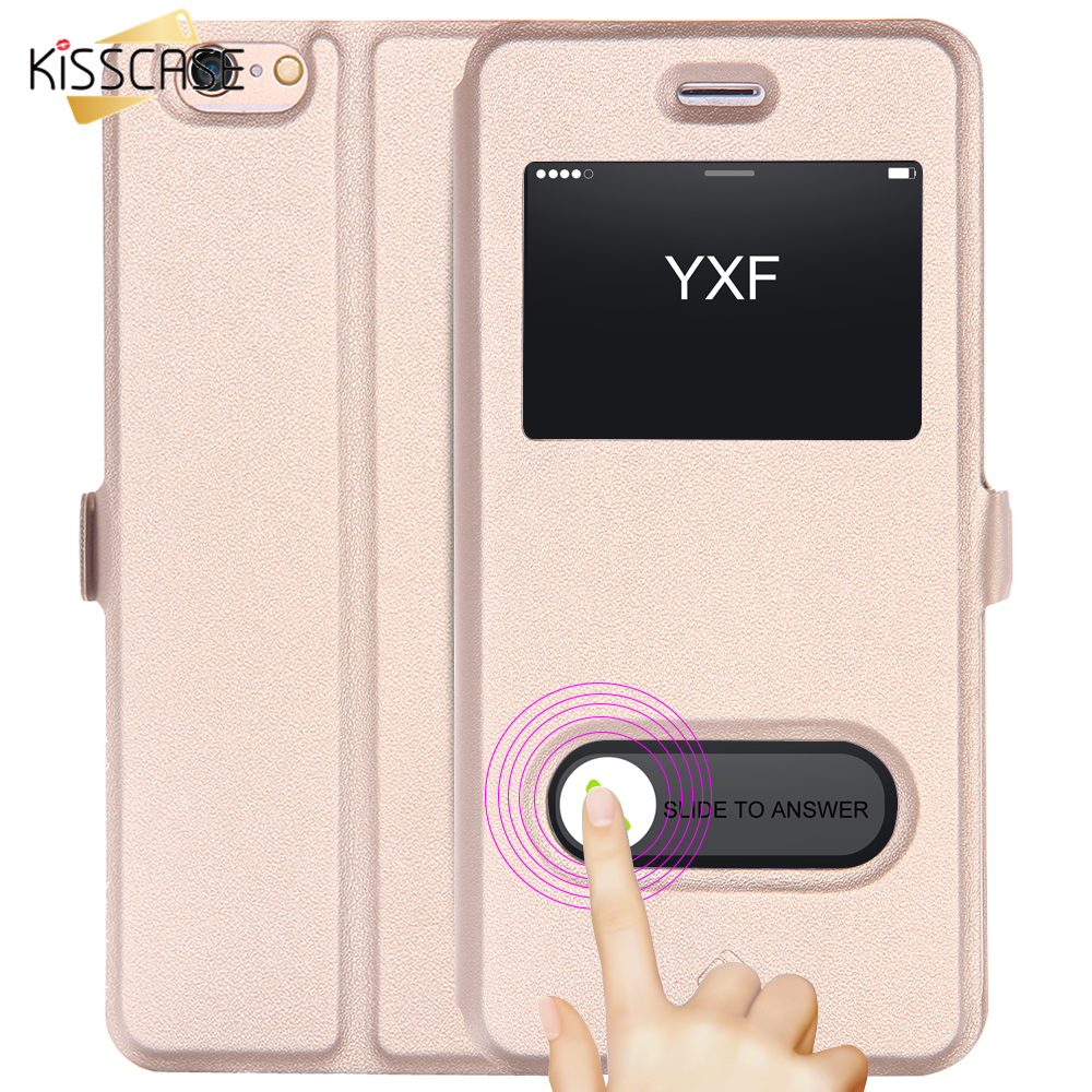 Phone Case For Iphone 7 6s Plus Se 5 S Cover Bag Smart Answer Window Baseus Terse Leather Samsung Galaxy Note Flip View Kisscase 6 Pu Slim Magnetic