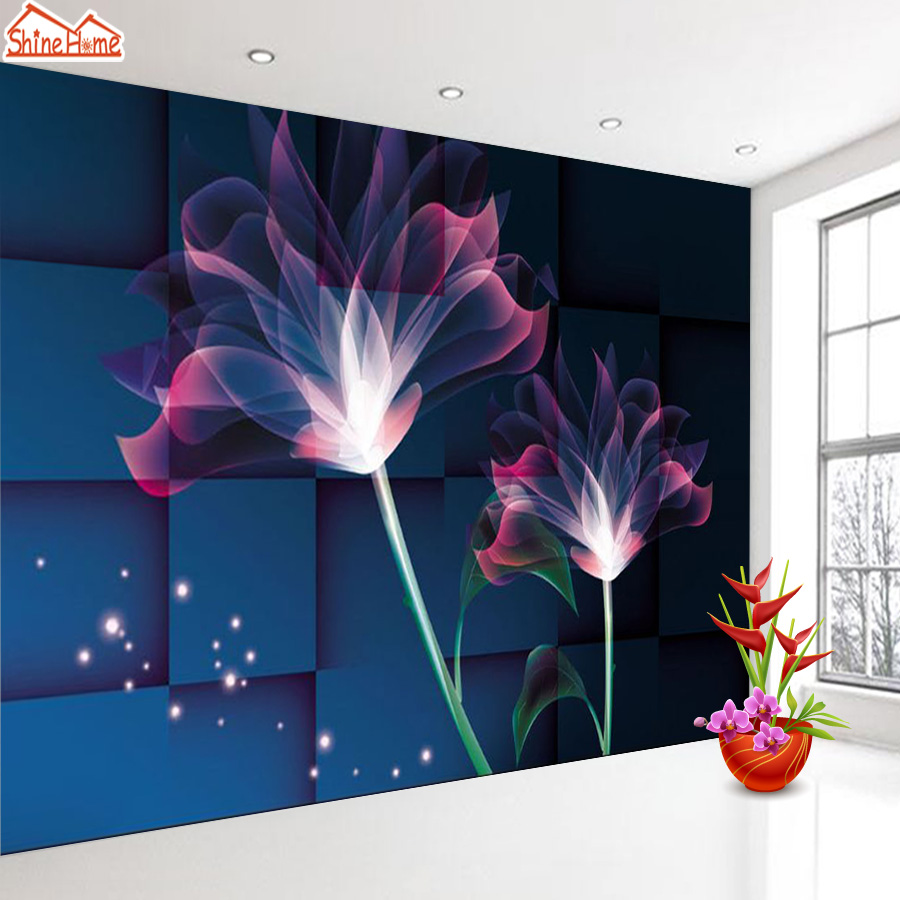 ShineHome-3d Room Floral Wallpaper Nature Brick Wallpapers 3d for Walls 3 d Livingroom Wallpapers Mural Roll Wall Paper Covering shinehome 3d room brick wallpaper black and white zebra strip wallpapers 3d for walls 3 d livingroom wallpapers mural roll paper