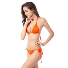 Summer New Sexy Swimwear Thong Women Bikini Bottom Only 2016 Hot Beach Swim Trunks Swimsuit Bow