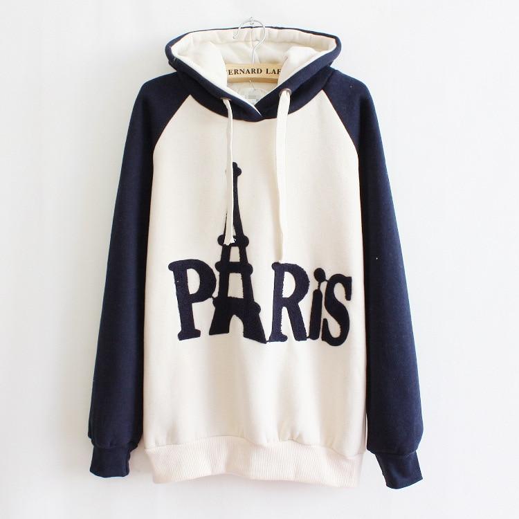 5de5ca793 2014 Paris Letter Eiffel Tower High Quality Cotton Women Hoodies Winter  Fleece Warm Plus Coat Sweatshirts Tracksuit With Hooded-in Hoodies &  Sweatshirts ...
