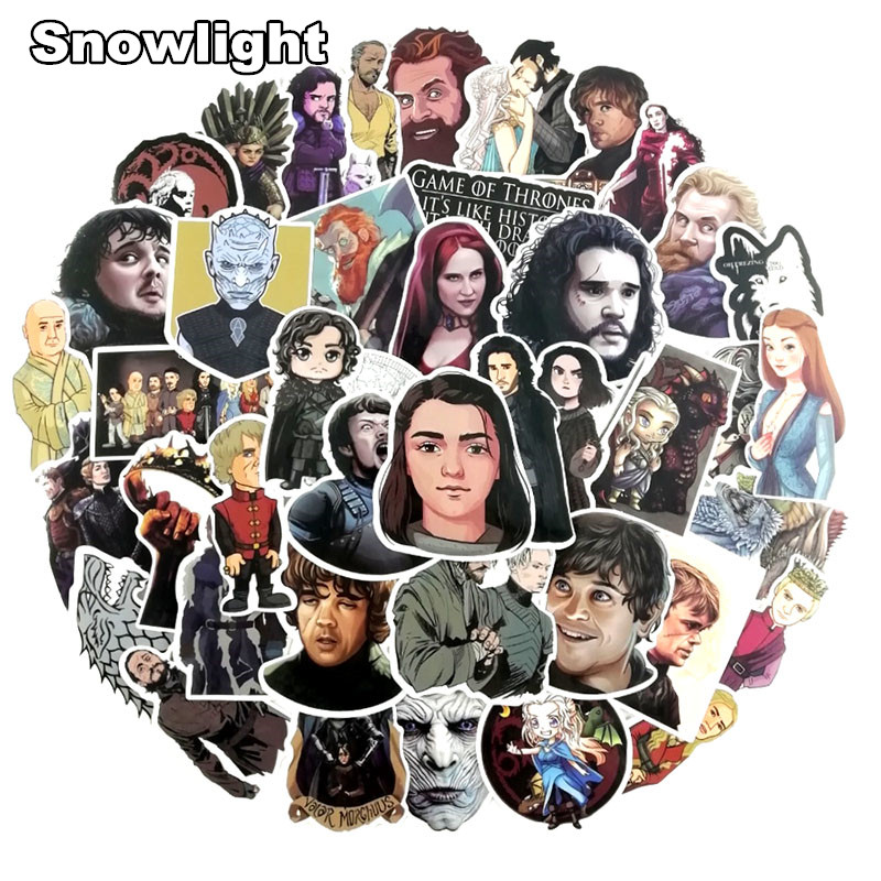 NEW 60pcs/LOT Game Of Thrones Graffiti Sticker Cool Waterproof Sticker For Skateboard Car Luggage DIY Interesting Sticker