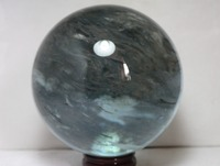 (3770g) bleu éperlan quartz cristal sculpture écritures balle