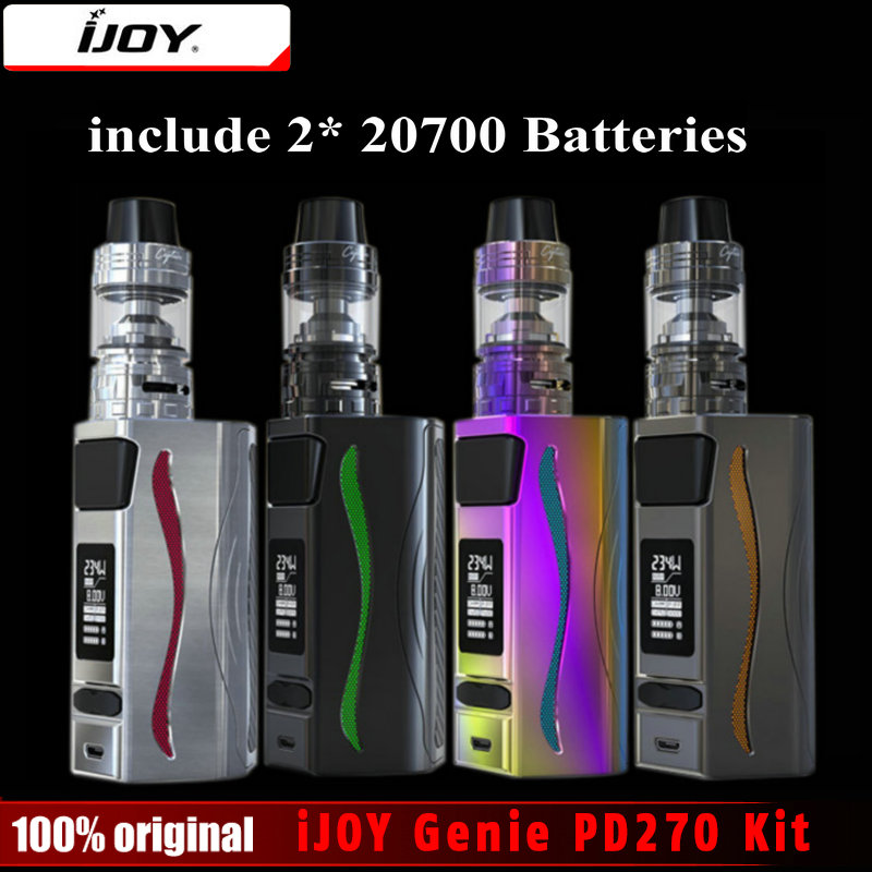 In Stock! iJOY Genie PD270 TC Box Mod With Captain S Subohm Tank 4ml 234W Dual 20700/18650 Batteries Vaporizer E-Cigarette Kit in stock ijoy captain pd270 kit with
