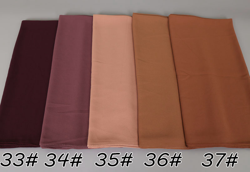 Big size women High quality bubble chiffon printe solid color shawls hijab winter muslim 45 color scarves/scarf 180*85cm