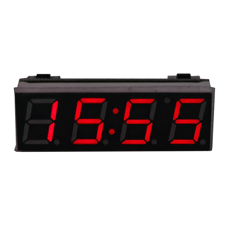 12V Car Accessories Digital Led Electronic Clock Time Temperature Digital Voltmeter Car Clock Saat Accessories for Auto