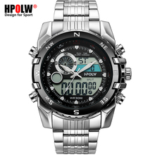 цена Luxury Brand Men Military Sport Watches Men's Quartz LED Chronos Analog Clock Male Digital Wrist Watch Relogio Masculino онлайн в 2017 году