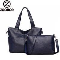 Women Handbag Leather Women Shoulder Bags 2 Sets Famous Brand Designer Women Messenger Bags Ladies Casual