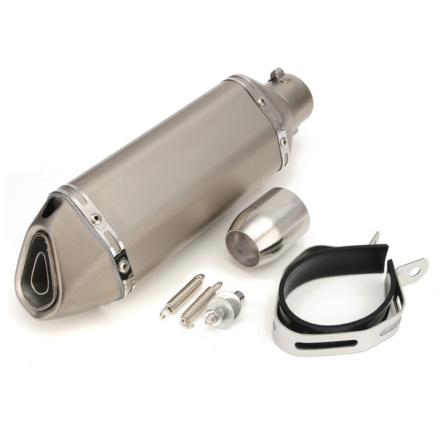 51 mm Carbon Fiber Refit Exhaust Muffler Pipe Small Hexagon Style DB Killer for Dirt Street Motorcycle