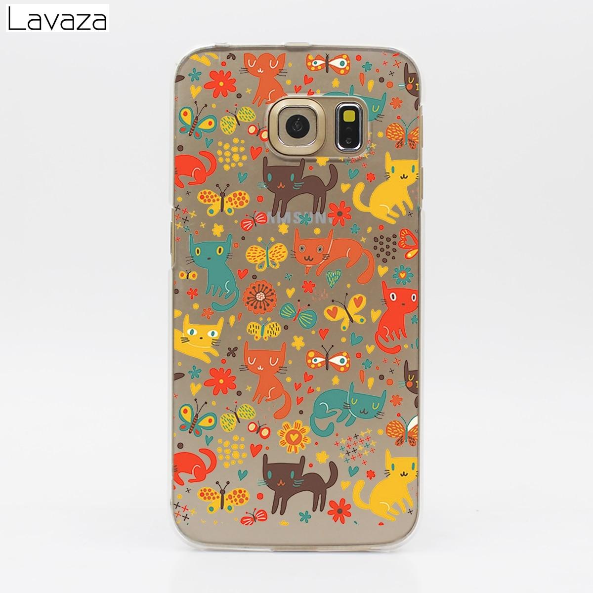 Lavaza Cute Dog Cat Mickey Hard Transparent Case for Samsung Galaxy S3 S4 S5 & Mini S6 S7 S8 S9 Edge Plus