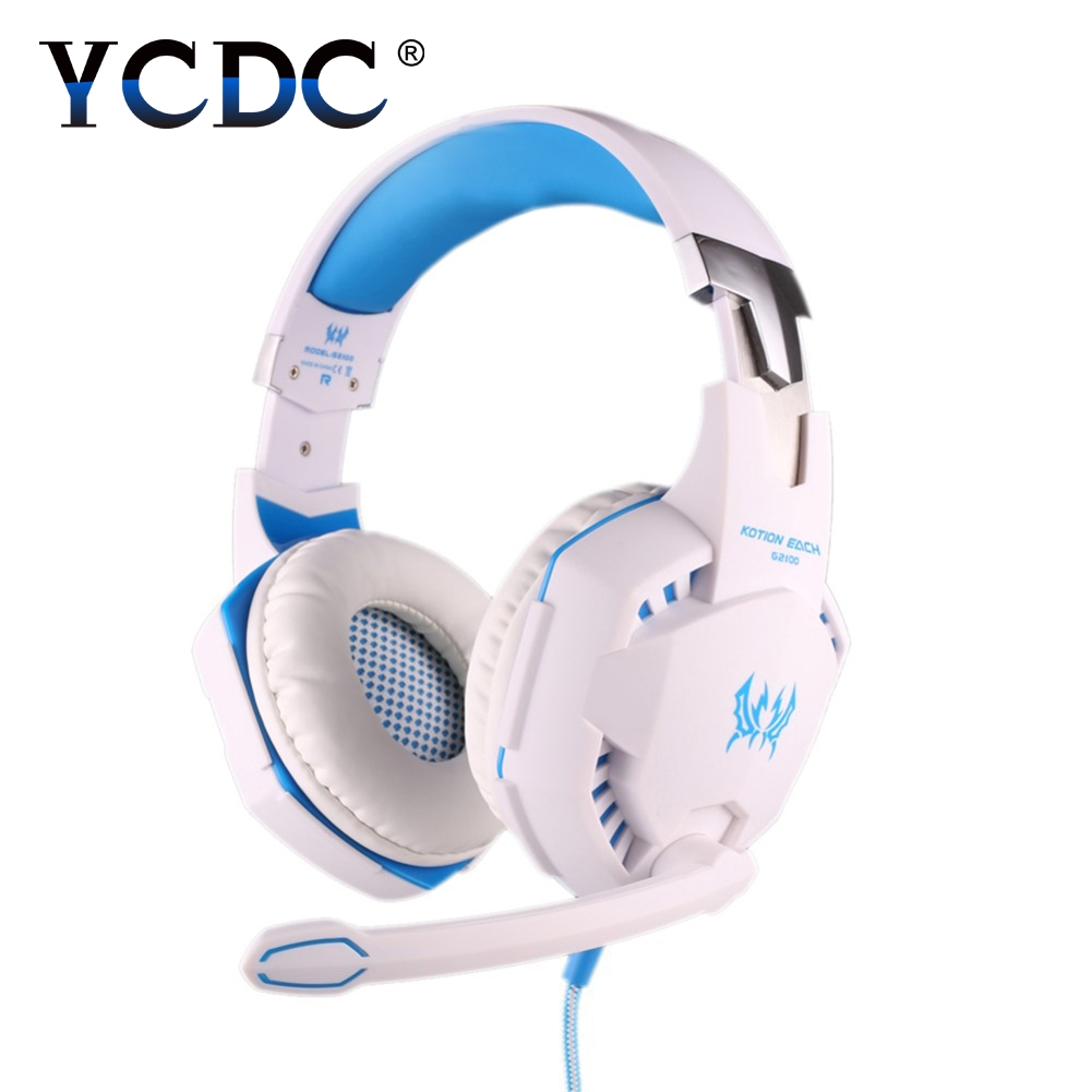 YCDC EACH G2100 3.5mm Game Gaming Headphone Headset Earphone With Mic LED Light For Laptop Tablet/Mobile Phones/iPad/PC/laptop