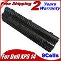 9 células bateria para Dell XPS 14 15 17 L401X L501X L502X L702X L701X 312 - 1123 312 - 1127 453 - 10186 J70W7 JWPHF R795X WHXY3