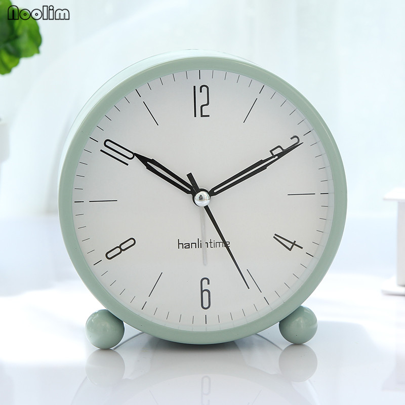 Clocks Friendly Noolim European Retro Student Small Alarm Clock Creative Bedside Clock Bedroom Minimalist Mute Clock Home Tabletop Decoration