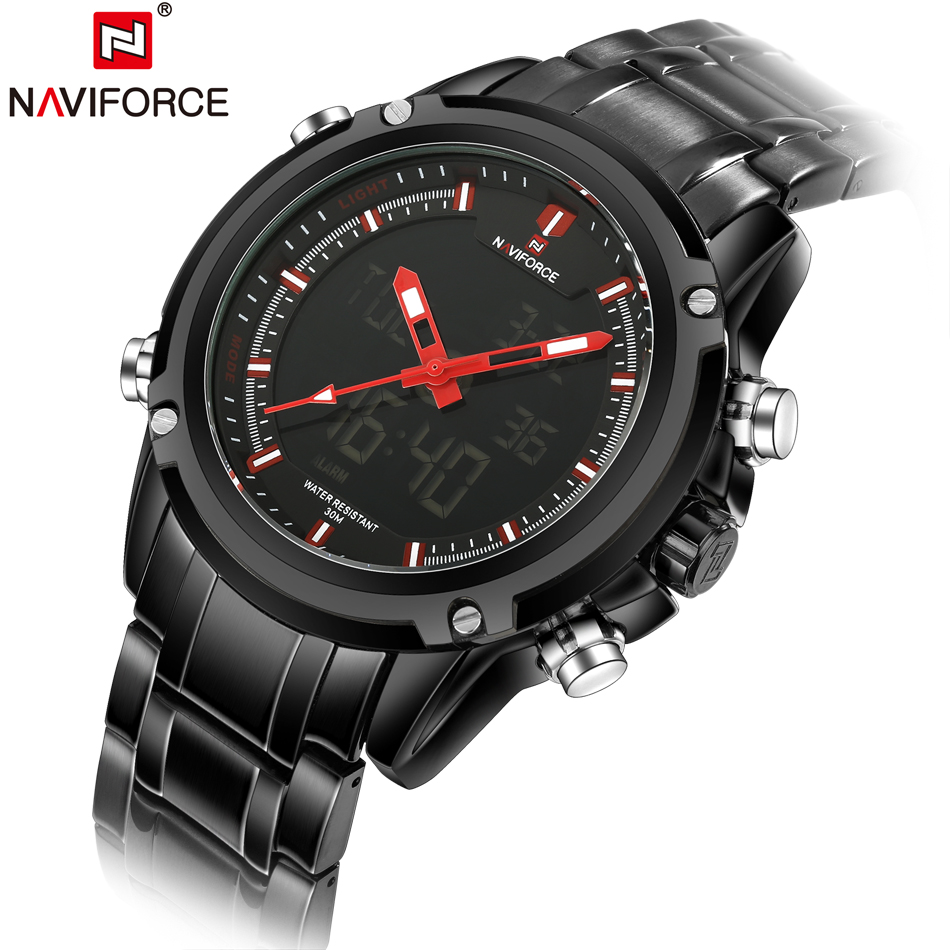 Top Brand Luxury Fashion Men Sports Watches Quartz Analog Digital Military Watch Male Clock Waterproof Steel Masculino Relojes fashion top gift item wood watches men s analog simple hand made wrist watch male sports quartz watch reloj de madera