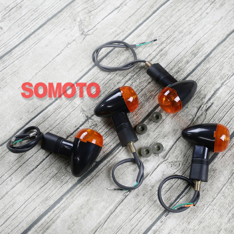 Universal Vintage Motorcycle Custom Turn Lights Lamp Front/Rear Blinker Classic Motobike High Quality Turn Signal Light