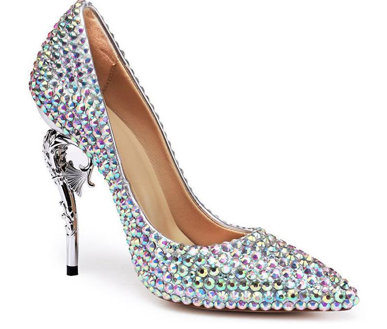 Talon Femmes Nouveau Chaussures Cm Hauts Pompes 5cm Cristal En Bout 2018 Mariage Mariée 11cm De 11 Strass Talons Femme Cendrillon 11 Pointu fnqYxwPd