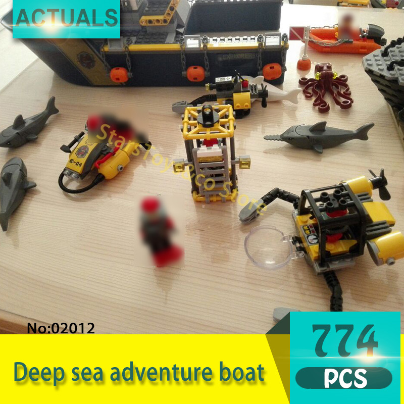 Lepin 02012 774Pcs City series Deep sea adventure boat Model Building Blocks Set Bricks Toys For Children Gift 60095 sermoido 02012 774pcs city series deep sea exploration vessel children educational building blocks bricks toys model gift 60095