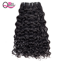 May Queen Hair 10 26Inch 1/3/4Piece Brazilian Water Wave Human Hair Weave Bundles Mix Hair Extensions Non Remy Hair Double Weft