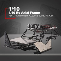 Metal Roll Cage Chassis Frame RC Car Body With Roof Rack And Metal Sheets Repack Accessories For 1/10 Rc Axial Wraith