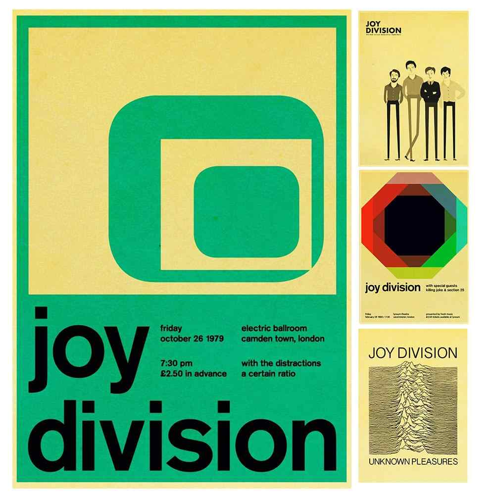 British post-punk band Joy Division Retro Poster Vintage poster Wall Decor For Home Bar Cafe core Decorative Painting
