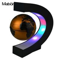 LED Globe Light Novelty Decoration Magnetic Levitation DIY World Map C Shape Home Globe Lamp Study Bedroom