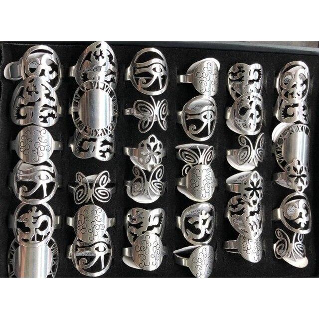 36 pz/lotto di Colore Argento Unibody Design In acciaio inox Anelli Anelli Unici Modelli Come Farfalla, Orologio Quadrante, Cuore, ecc.