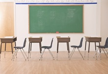 Laeacco Negro da sala de Aula Secretária Estudante Crianças Backdrops Para Estúdio de Fotografia Fotografia Fundos Fotográficos Personalizados