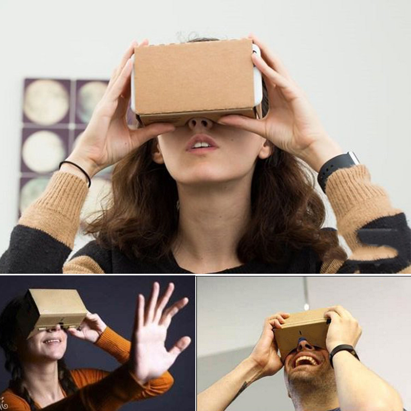 Virtual Reality Glasses Google Cardboard Glasses 3D Glasses VR Box Movies for iPhone 5 6 7 SmartPhones VR Headset 3