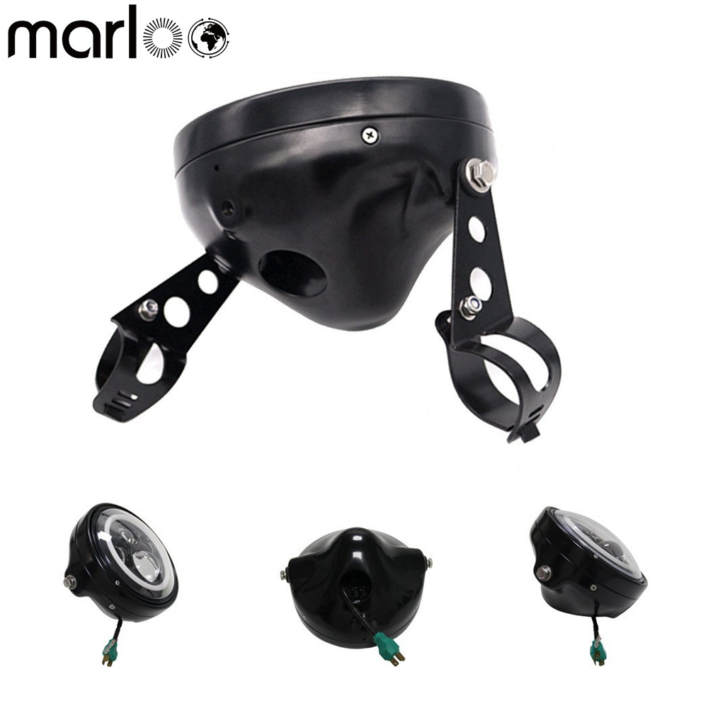 Marloo Motorcycle accessories Harley 7 Inch Round Led Headlight Housing Bucket Bracket For Harley Davidson Motos