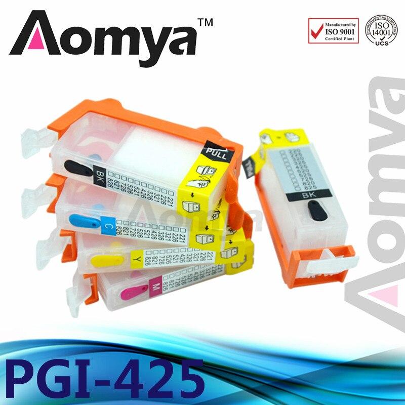 5pcs PGI425 CLI426 Refillable Ink Cartridge For CANON MG5240 MG5140 MG6140 MG8140 IP4840 MX884 IX6540 With Auto Reset Chip 425/6 refillable pgi425 cli425 with chip for canon pgi 425 cli 426 ink cartridge for canon pixma mg5140 mg5240 mg5340 ip4840 ip4940