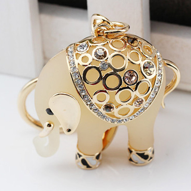 New arrival key chain christmas gift animal keychain Elephant car keychain fashion cubre llaves keys for man and woman jewelry