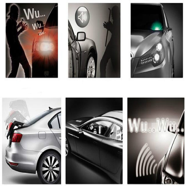 Carro In English >> 12v Car Alarm System Alarma Auto Central Lock Alarme De Carro Alarm Auto With Remote Control English Instructions