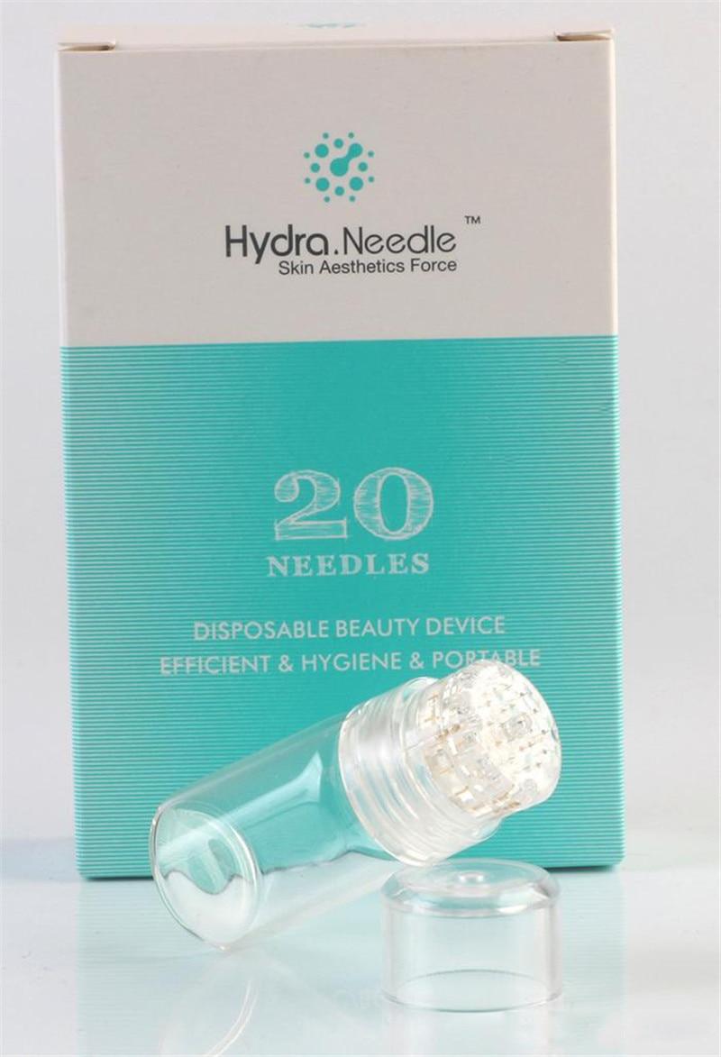 Portable Hydra Roller Titanium Needle 20 Bottle Aqua Micro Channel Mesotherapy Gold Needle Disposable Beauty Device X-LASH