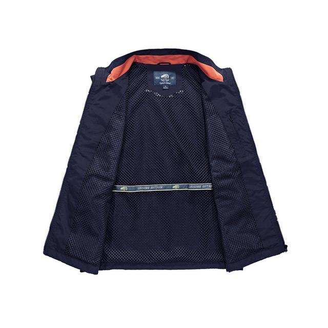 2018 Spring Autumn Casual Waterproof Man Vest Multi-pocket Outwear Man Waistcoat