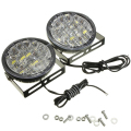 2015 New 2X 12V 18 LED Round Car Driving Daytime Running Light DRL Fog Lamp Bright White