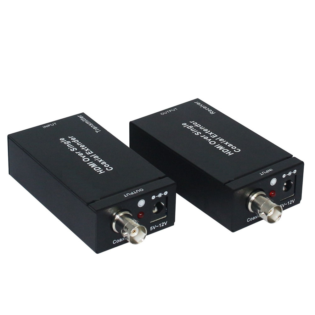 1pc HDMI Extender Over Single Coaxial Transmitter & Receiver IR TX RX HDMI Extender with Cable GDeals 80 channels hdmi to dvb t modulator hdmi extender over coaxial