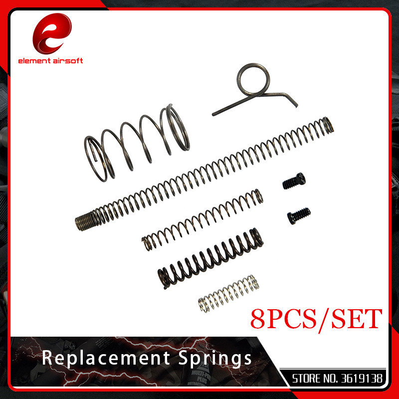 Element Steel Replacement Spring Set Group For Airsoft AEG Ver.2/3 Springs For TM Hi-Cap Hunting Accessories